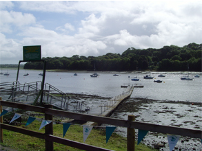 View from the pub beer garden at Lawrenny Quay